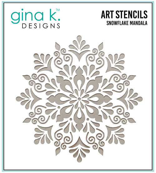 DIRECT BUY GINA K DESIGNS STENCIL SNOWFLAKE MANDALA (IN STOCK)