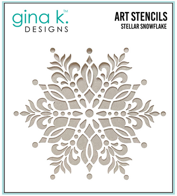 DIRECT BUY GINA K DESIGNS STENCIL STELLAR SNOWFLAKE (HAS TO BE ORDERED)