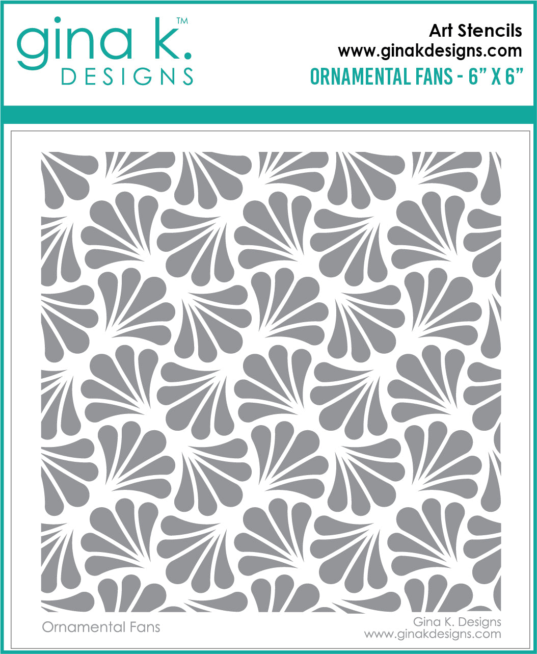 DIRECT BUY GINA K DESIGNS STENCIL ORNAMENTAL FANS (HAS TO BE ORDERED)