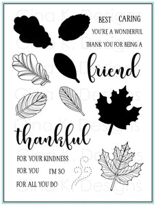 DIRECT BUY GINA K DESIGNS LARGE STAMP SET STITCHED LEAVES (HAS TO BE ORDERED)