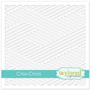 "TAYLORED EXPRESSIONS 6""X6"" STENCIL ""CRISS-CROSS"" (IN STOCK)"