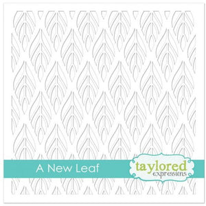 "TAYLORED EXPRESSIONS 6""X6"" STENCIL ""A NEW LEAF"" (IN STOCK)"
