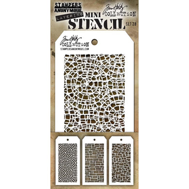 TIM HOLTZ STENCILS SET #28 (HAS TO BE ORDERED)