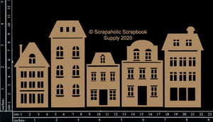 "DIRECT BUY SCRAPAHOLICS CHIPBOARD EMBELLISHMENT  ""TOWN BUILDINGS"" (HAS TO BE ORDERED)"