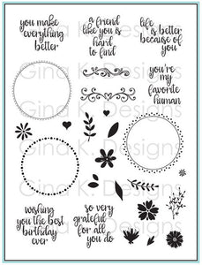 DIRECT BUY GINA K DESIGNS LARGE STAMP SET ORIGINAL WREATH BUILDER (HAS TO BE ORDERED)