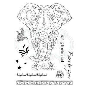 CREATIVE EXPRESSIONS CLEAR STAMPS A5 PINK INK DESIGNS ELEPHANT (HAS TO BE ORDERED)