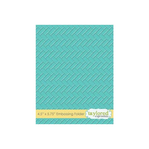 "TAYLORED EXPRESSIONS EMBOSSING FOLDER ""HERRINGBONE"" (IN STOCK)"