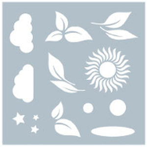 DIRECT BUY GINA K DESIGNS STENCIL NATURE'S ELEMENTS (HAS TO BE ORDERED)