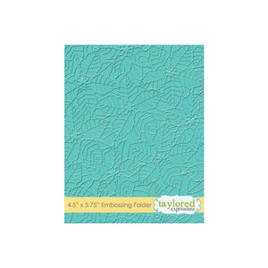 "TAYLORED EXPRESSIONS EMBOSSING FOLDER ""PEACEFUL POINSETTIA"" (IN STOCK)"