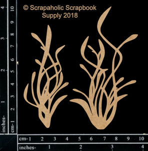 "DIRECT BUY SCRAPAHOLICS CHIPBOARD EMBELLISHMENT ""SEA GRASS #2"" (IN STOCK)"