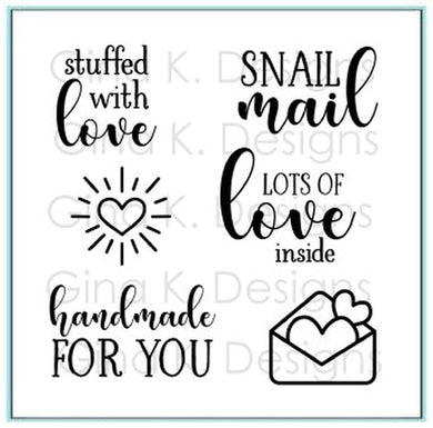 DIRECT BUY GINA K DESIGNS MINI STAMP SET STUFFED WITH LOVE (HAS TO BE ORDERED)