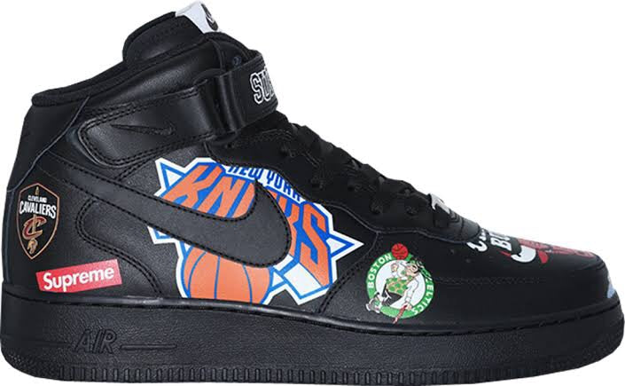 official photos 3684f 5ce77 Nike Air Force 1 Mid Supreme Nba Black