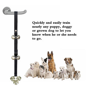 Fantastic way to train your dog to tell you when they need to go out!  Dog Doorbells Potty Training