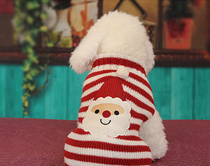Cute Red and White Striped Christmas Sweater for Your Four Legged Friend!