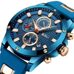 Blue and Gold Men's Watch - BIDEN - A Watch for Him, Doesn't Mean Boring!