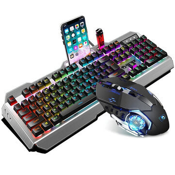 Wired Keyboard & Ergonomic Mouse Set