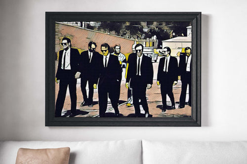 Reservoir Dogs Movie Poster Art Canvas Print Wall
