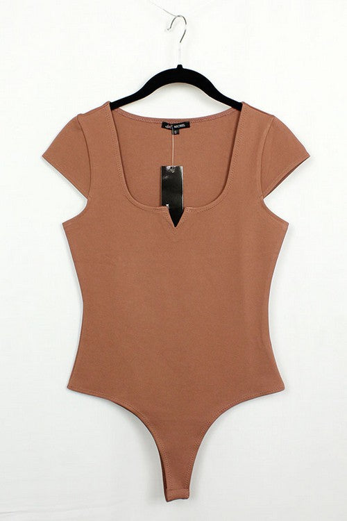Detailed Bodysuit With Sleeves