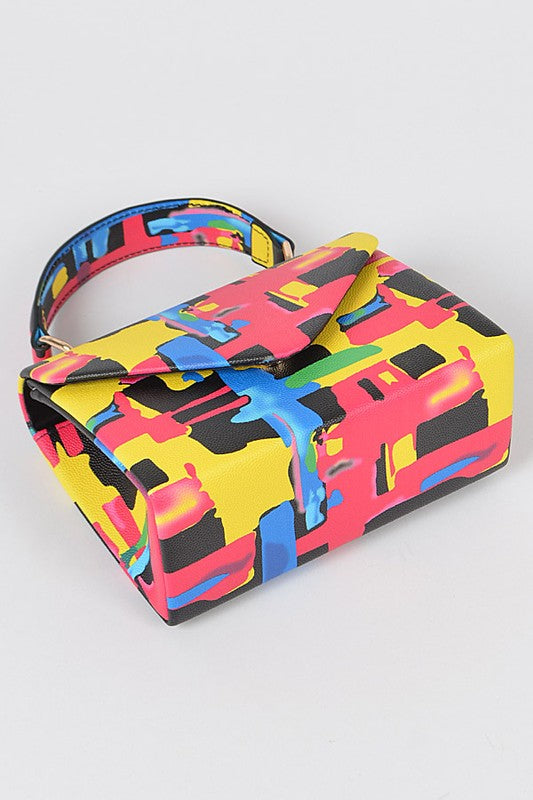 Multi Color Box Purse