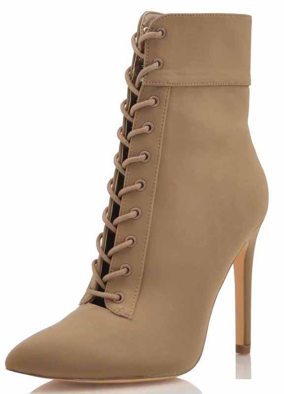 Mocha Lace Up Bootie