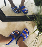 "At Ease Slides ""Royal Blue"""