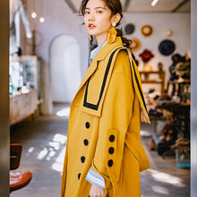 Load image into Gallery viewer, Yellow trench coat