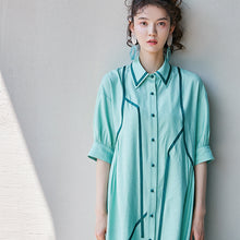 Load image into Gallery viewer, Mint trimmed tunic