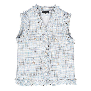 Retro tweed vest