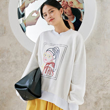 Load image into Gallery viewer, Girl with a pearl earring sweatshirt