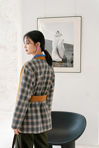 Patchwork checked jacket