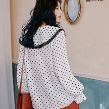 Load image into Gallery viewer, Retro dots printed shirt