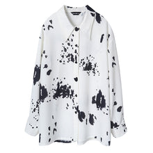 Load image into Gallery viewer, Oversized ink printed shirt