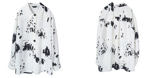 Oversized ink printed shirt