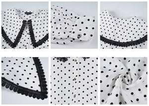 Retro dots printed shirt