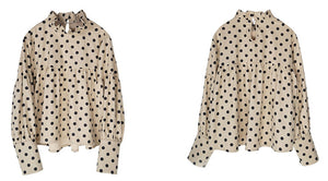 Dots printed cropped top