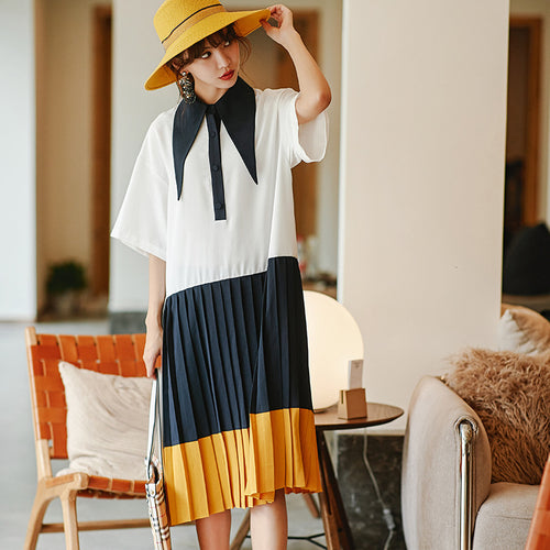 Oversized pleated dress