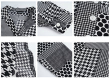 Load image into Gallery viewer, Oversized polka houndstooth shirt
