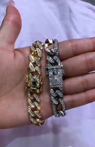 Cuban diamond bracelet