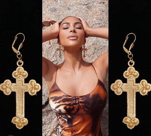 Kim cross earrings