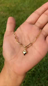 One heart anklet