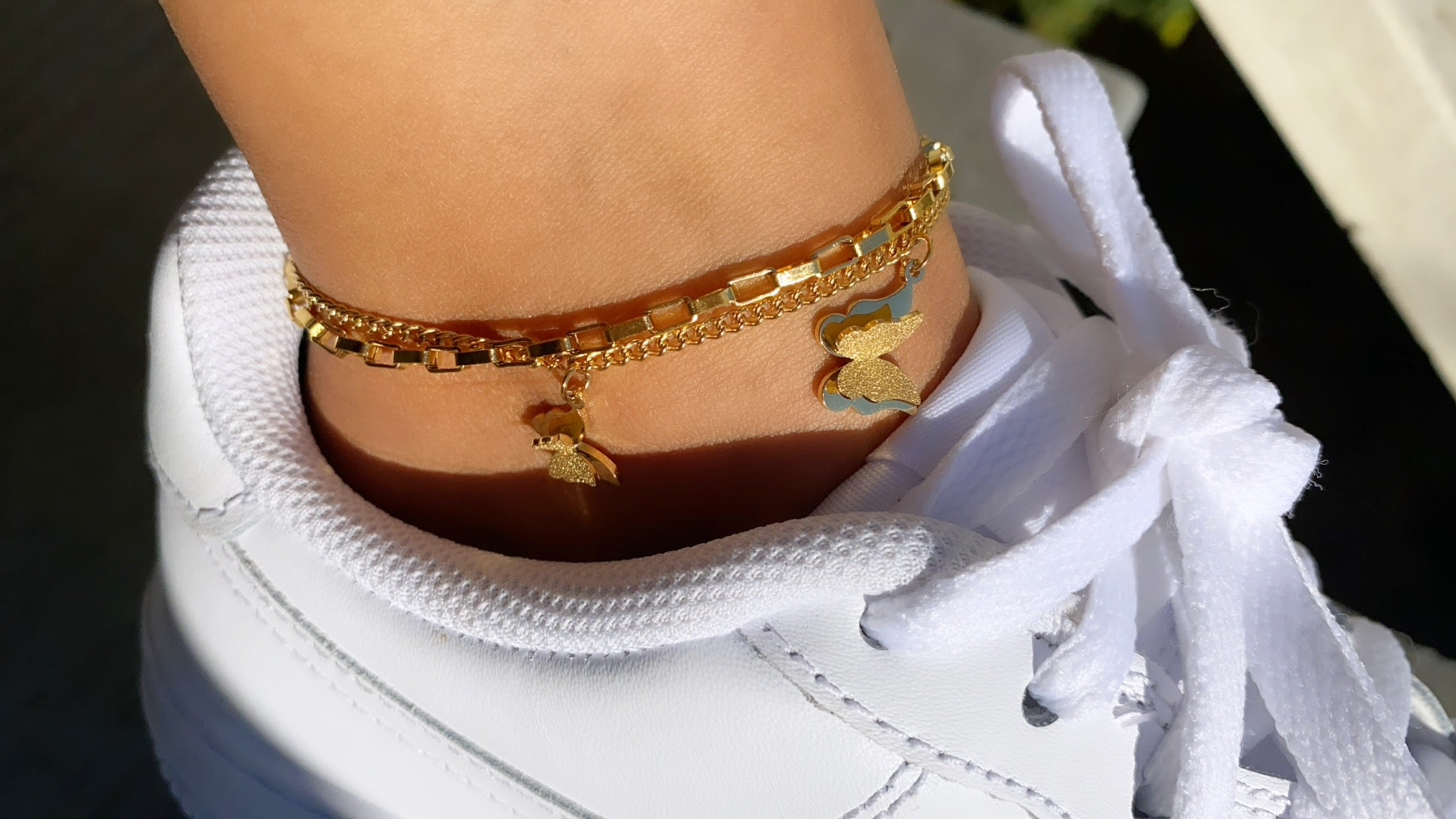 4D butterfly anklet