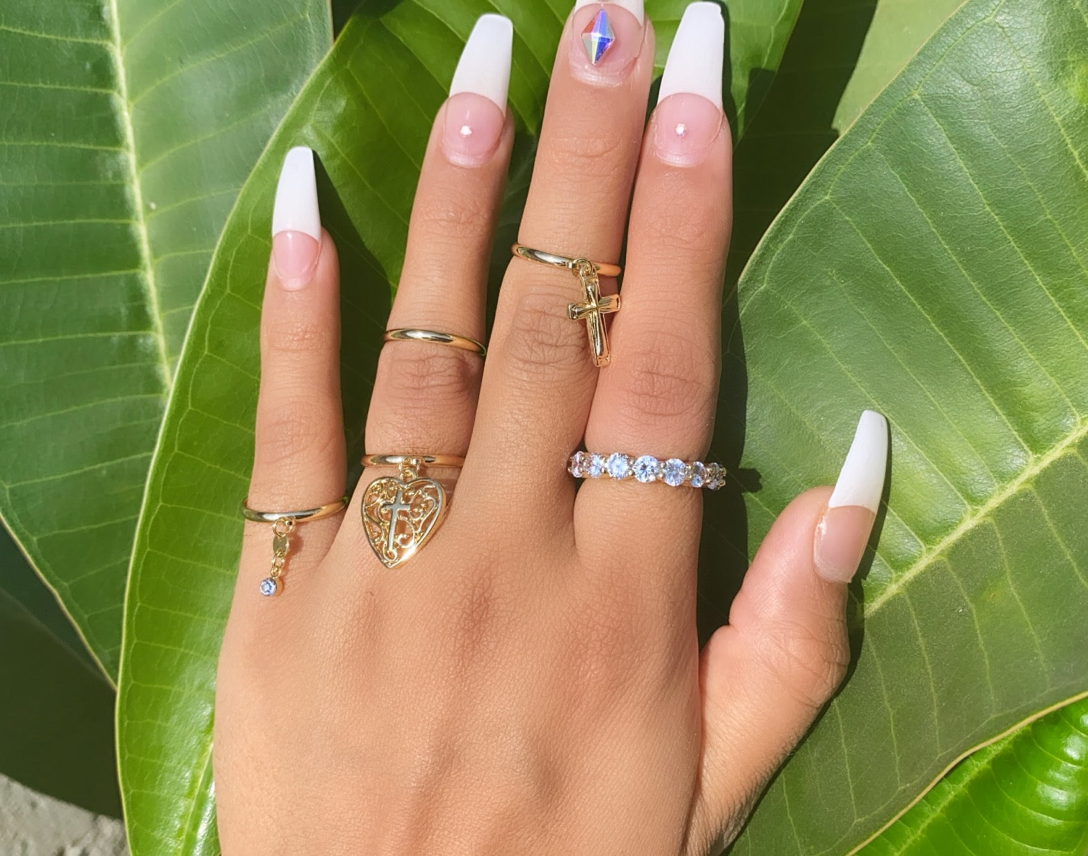 Rosalia ring set