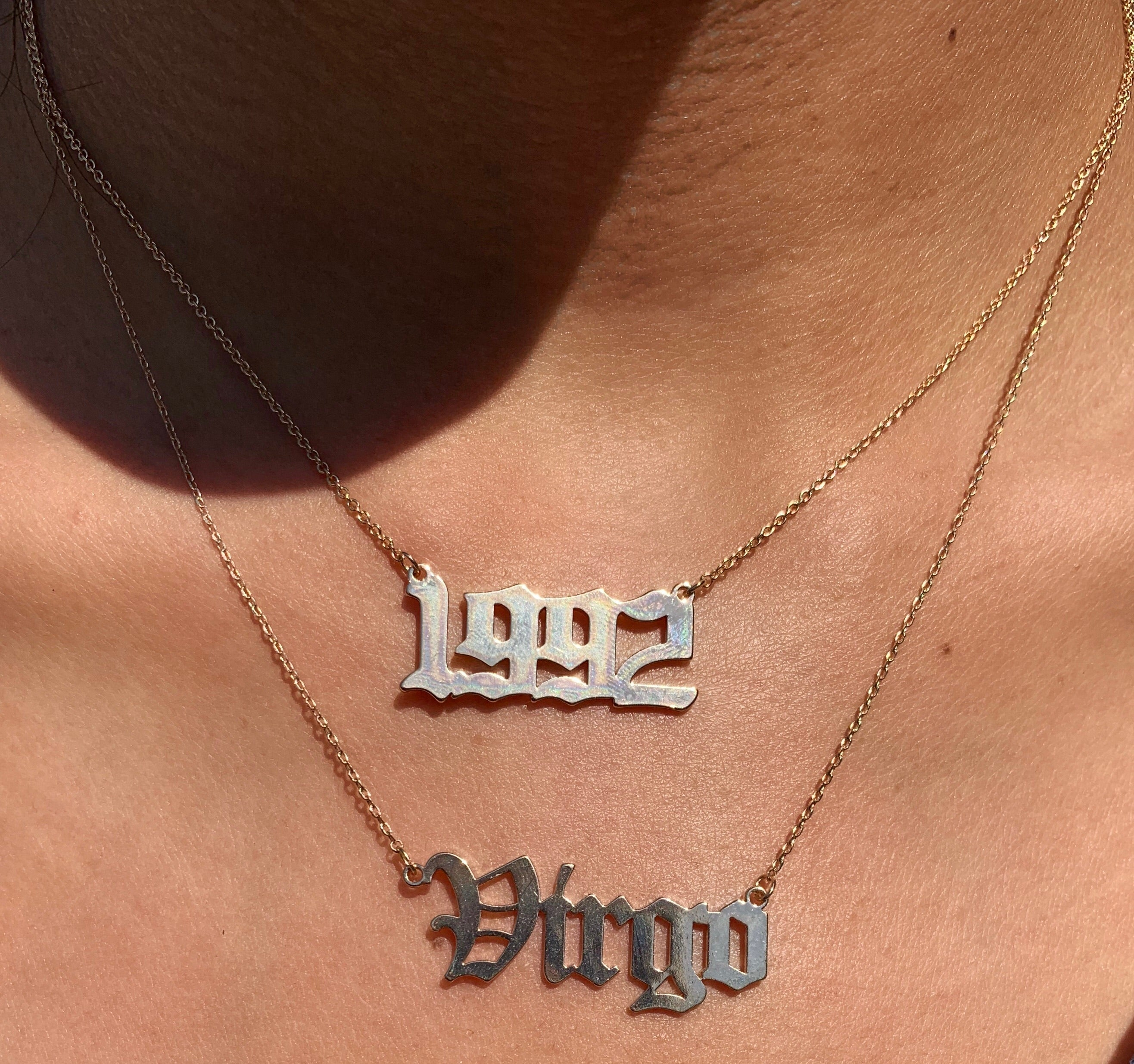 Birth year pendant