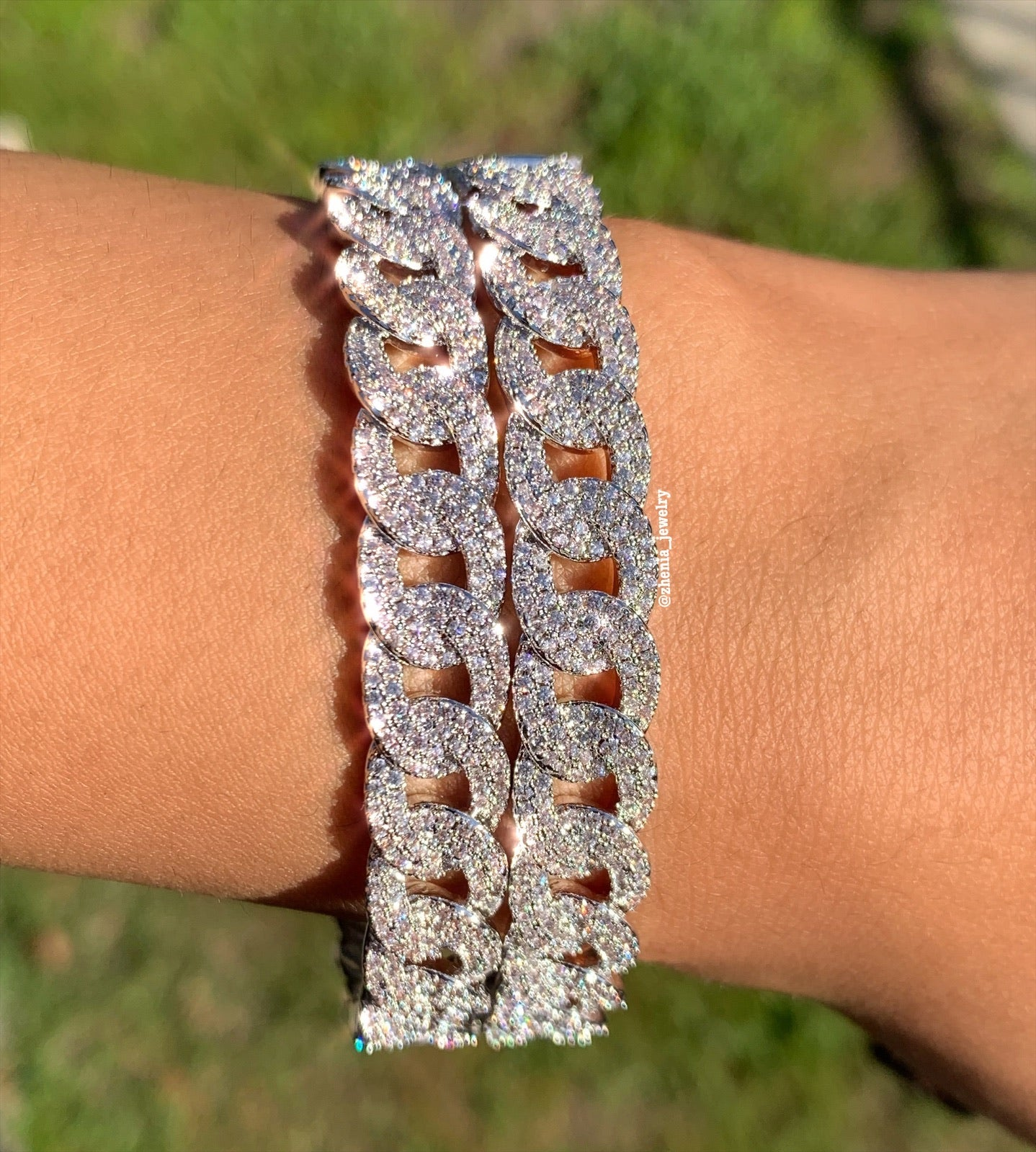 Cuban link bangle