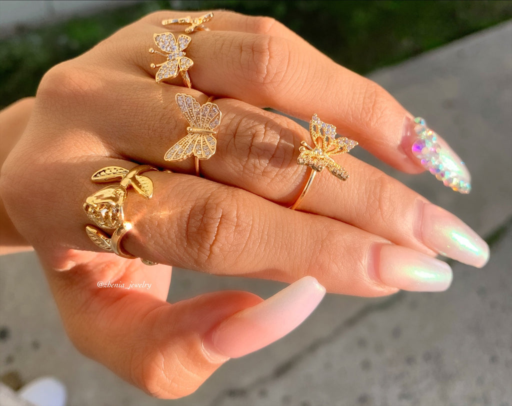 Butterfly ring set