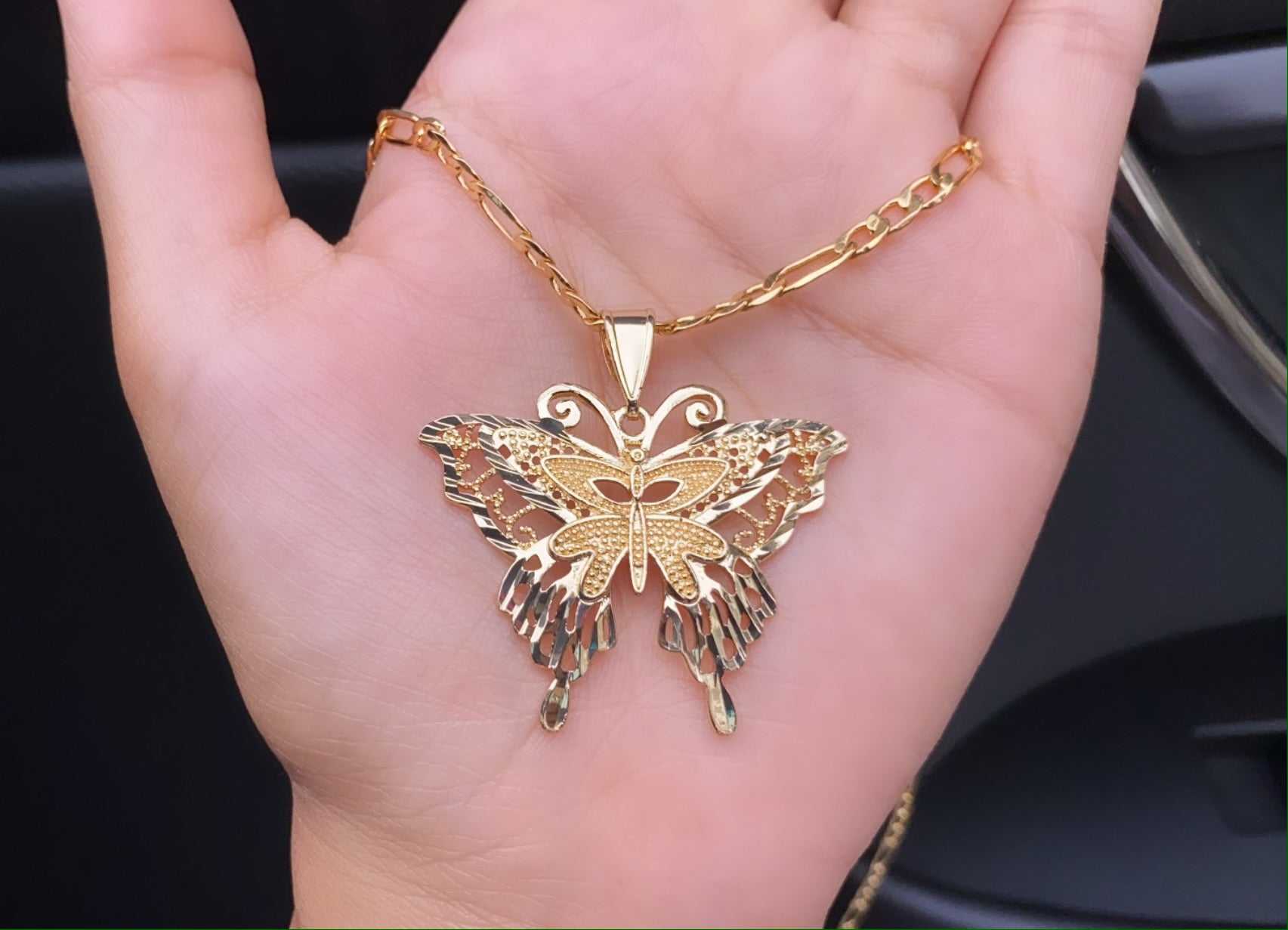 Unique butterfly necklace