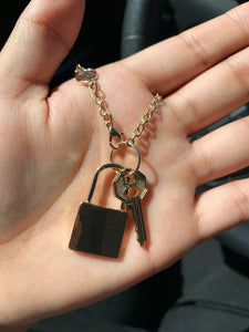 Lock key necklace