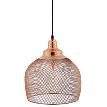 Load image into Gallery viewer, Glimmer Half-Sphere Rose Gold Pendant Light
