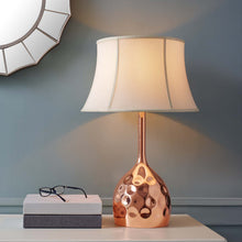 Load image into Gallery viewer, Dimple Rose Gold Table Lamp