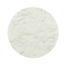 "Load image into Gallery viewer, Lippa 40"" Round Artificial Marble Dining Table"